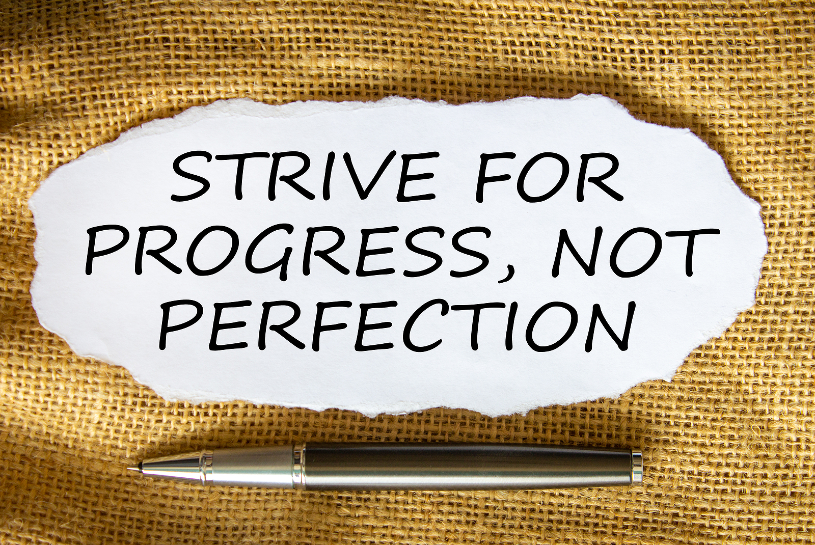 """Quote saying """" strive for progress, not perfection. Its time to give yourself grace. Learn tips for overcoming perfectionism in Detroit, MI. We offer therapy for anxiety and perfectionism. Call now and begin moving forward!"""